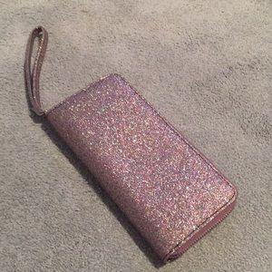 Handbags - Pink glittered wallet